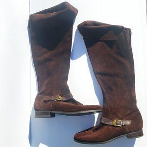 FRANCO SARTO Suede Boots Brown Sz 9M